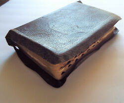 Antique Blackwell-wielank Leather Bible With Many Original Enclosures
