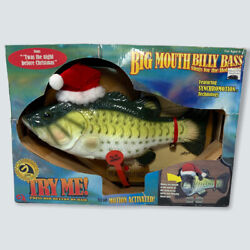 New Gemmy Big Mouth Billy Bass Sings The Holidays Christmas 2000 Singing Fish