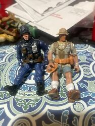 Lot Of 2 Lanard Corps 3.75 Military Action Figures Gunner O'grady 118 Scale
