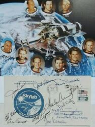 Skylab - 9 Astronauts All Crews Signed Cover Walt Cunningham Personal Collection