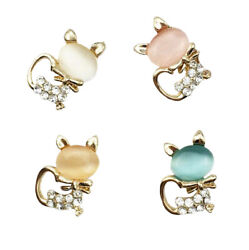 10Pcs Mixed Crystal Rhinestones Cats Flatback Buttons for Crafts DIY Decorations