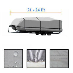 21-24ft 600d Oxford Fabric High Quality Waterproof Boat Cover And Storage Bag