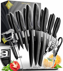 Home Hero Kitchen Knife Set 13 Stainless Steel Knives With Knife Sharpener