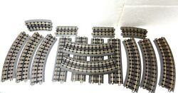Mth Rail King Realtrax Lot Of16 - Curved And Straight Track - Nice Off Layout--