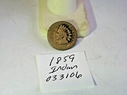 1859 Us Indian Head Cent Us Coin Small Cents Key Date 033106