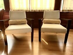 Pair Ligne Roset French Line Lounge Chairs