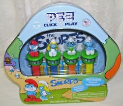 Smurfs Pez Set Of Four With Collectible Tin Box And Game Board 2018