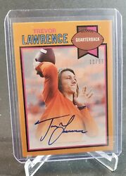 2021 Topps Trevor Lawrence 1979 Topps Football Auto /99 Card 19-a