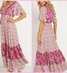 Nwt Rare Spell And The Gypsy Collective Winona Gown In Berry Size Xxs Gorgeous 😍