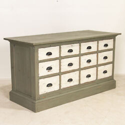 Antique Painted Pine Shop Counter Farmhouse Sideboard Kitchen Island