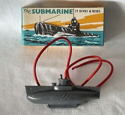 Vintage Plastic Tresco Diving Toy Submarine - New Old Stock. Never Used. Sub3