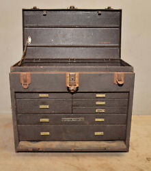 Antique Kennedy Metal 7 Drawer Machinist Chest Collectible Jewelers Tool Box