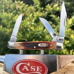 Case Xx-beautiful Red Stag Sm Stockman. R5333 Ss 2.63 Closed. Mirror Finish Ss