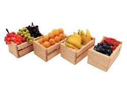 Dolls House Crates Of Fruit Greengrocers Boxes Miniature Store Shop Accessory