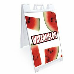 Signmission Signicade Watermelon A-frame Sidewalk Sign With Graphics On Each ...