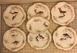 """Vintagelimoges Imperia Fish Plater 8 1/2"""" 6pcand8 1/2x6"""""""