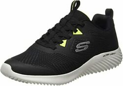 Sketchers Mens Slip On Stretch Laced Athletic Sports Bounder Hd Sneaker- Uk 7-12