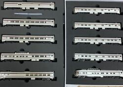 Rapido N Canadian 10 Car Set- Canadian Pacific Cp Maroon