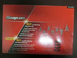 Snap On 11 Piece 7-retaining Ring Pliers And 4-mini Hook Set New