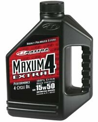 Maxima Racing Oils 329128-2pk Extra4 Synthetic 4t 15w50 Motorcycle Engine Oil...