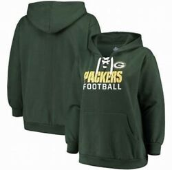 Majestic Green Bay Packers Plus Size Womens Lace Up Hoodie Womens Size 3xl Nwt