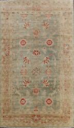 Antique Style Green Oushak Egyptain Vegetable Dye Hand-knotted Area Rug 9x12 Ft