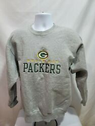 Vintage Pro Player Mens L Sweatshirt Green Bay Packers Made In Usa Embroidered