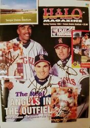 1994 California Angelsrookies 3 Hand Signed Rookie Cards And Magazine Cover