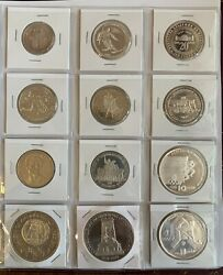 Collection Of Bulgarian Commemorative Coins Incl. Rare Silver Ones