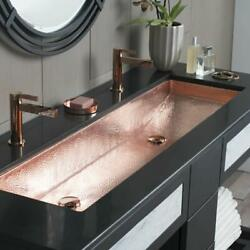 Native Trails Cps08 Trough 46 Single Basin Undermount Copper - Copper
