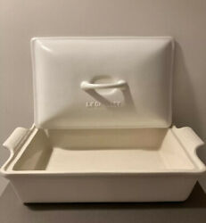 Le Creuset Heritage Stoneware Rectangular Covered Casserole In Matte White