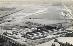 Mid-1920s Usa Ford Factory And Airport Dearborn Michigan Unused Postcard