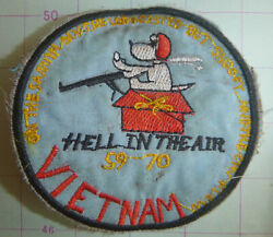 SNOOPY PATCH AIR CAVALRY HELICOPTER GUNSHIP Red Baron Vietnam War 4623