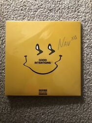 Nav Signed Vinyl- Good Intentions Smiley Face Yellow Vinyl Sold Out