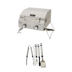 Nexgrill 2-burner Portable Propane Gas Table Top Grill In Stainless Steel