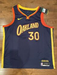 Nwt Nike Golden State Warriors Stephen Curry City Edition Swingman Jersey Xl 52