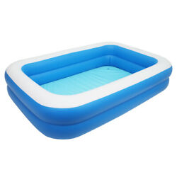 102 Inch Inflatable Above Ground Swimming Pool Kids Rectangular Paddling Pools