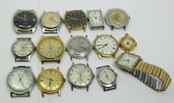 For Parts Or Repair Timex Manual Wind Mechanical Wrist Watch Lot Of 15