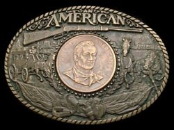 Qk26159 Great 1980s John Wayne - An American Solid Brass Commemorative Buckle