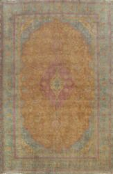 Antique Floral Ardakan Overdyed Hand-knotted Evenly Low Pile Wool Area Rug 10x13