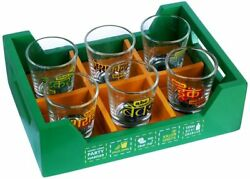 7-pieces Shot Glasses Set With Killer Tray Capacity Of Each 60ml- Multicolor