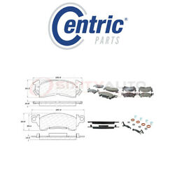Centric Posi Quiet Ceramic Brake Pads W Shims For 1987 Buick Electra 5.0l V8 Xe
