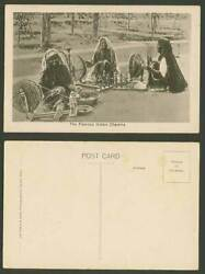 India Old Postcard The Famous Indian Charkha, Native Women Spinning Wheel Wheels