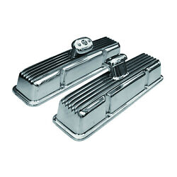Mooneyes Aluminum Valve Covers Chevy Small Block 1957-1984 Mp649b W Breathers