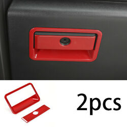 Abs Red Car Co-pilot Storage Box Handle Bowl Trim Fit For Ford F-150 2015-2020