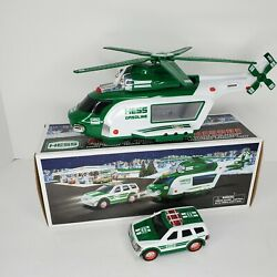 2012 Hess Helicopter And Rescue Truck Lights And Sounds Propeller Spins