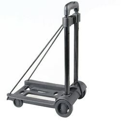 Practical Luggage Cart Travel Trailer Shopping Sturdy Portable Folding Hand Pull