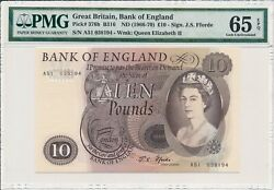 Bank Of England Great Britain 10 Pounds Nd1966-70 Pmg 65epq