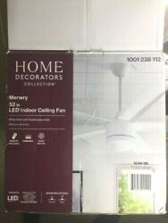 Home Decorators Co Replacement Parts Merwry White Finish 52quot; LED Ceiling Fan