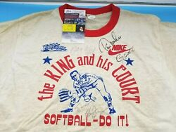 Vintage Nike T-shirt - Eddie Feigner King And His Court Softball - Autographed Jsa